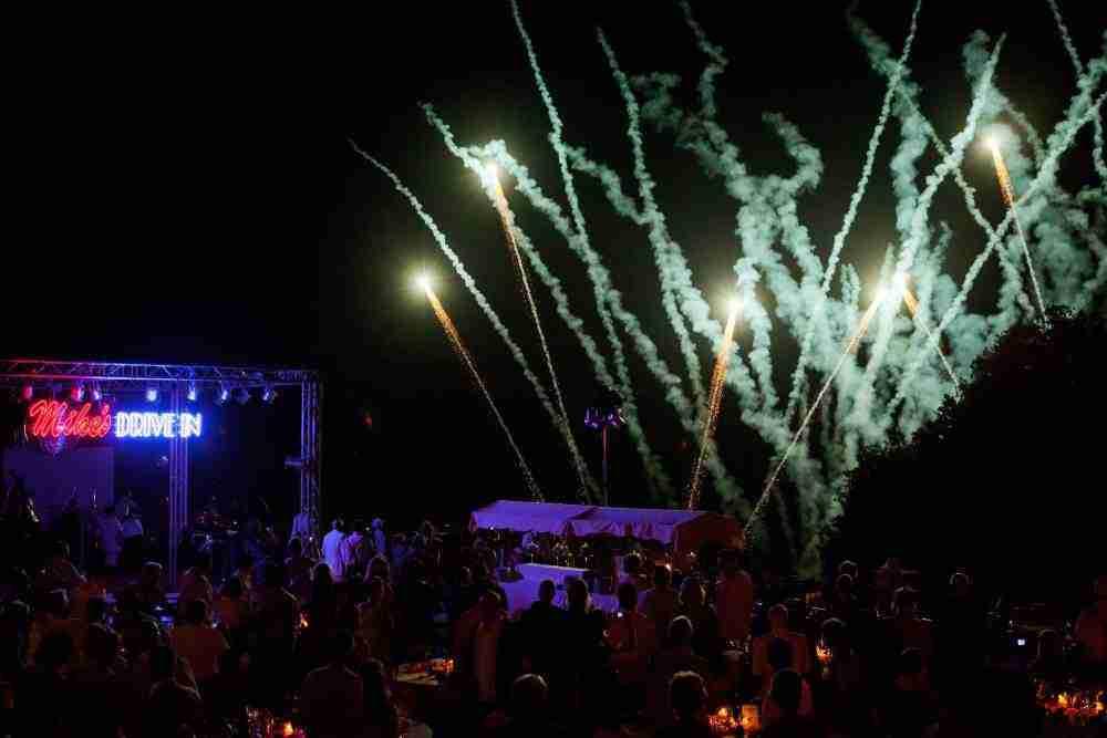 birthday party fireworks tuscany