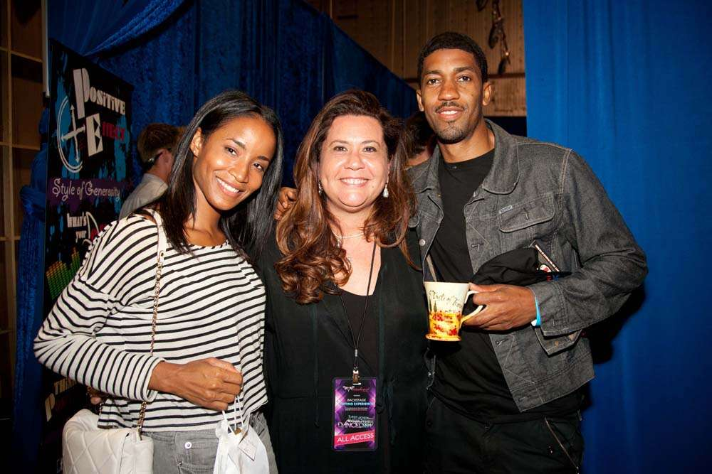Actress Faune Chambers and rapper Fonzworth Bentley with Italian products from Monica Balli - Karen Reuter Photography