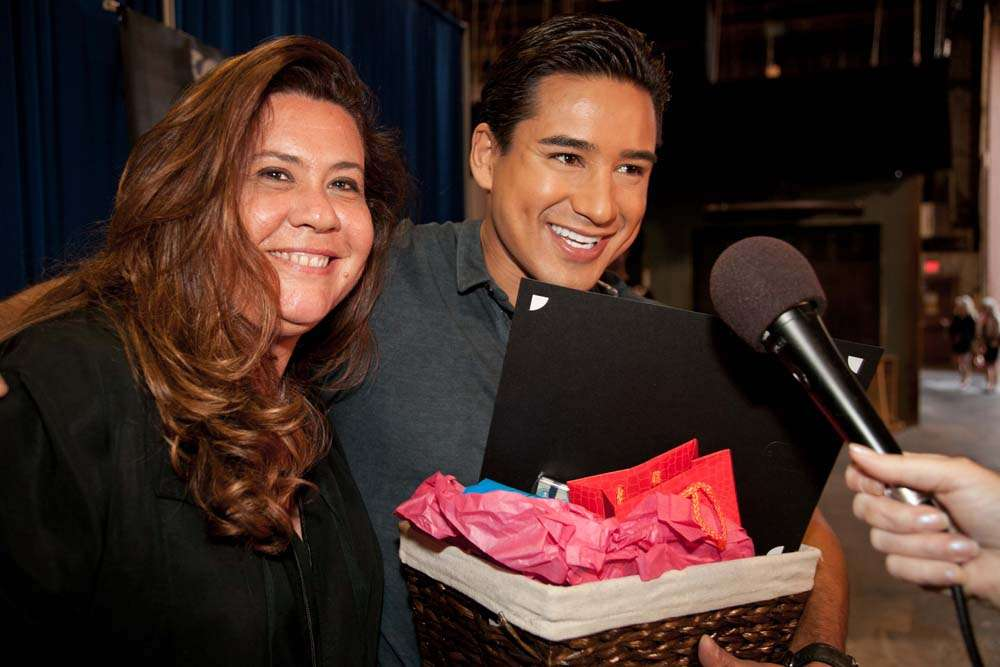 Backstage gifting Los Angeles to Mario Lopez
