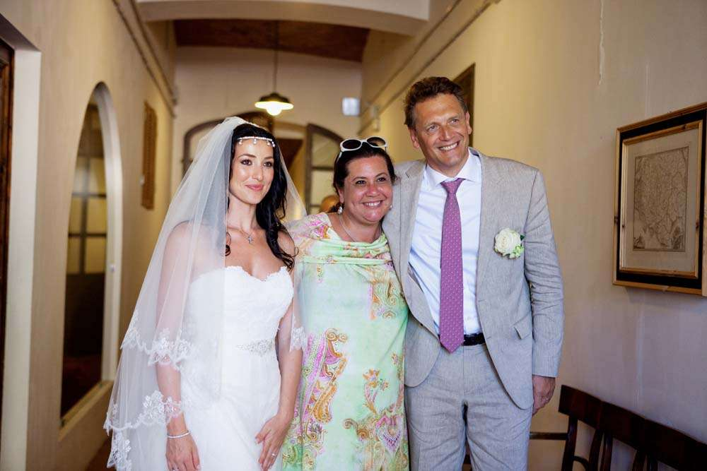 Ornella & Jerome Valcke with Monica Balli