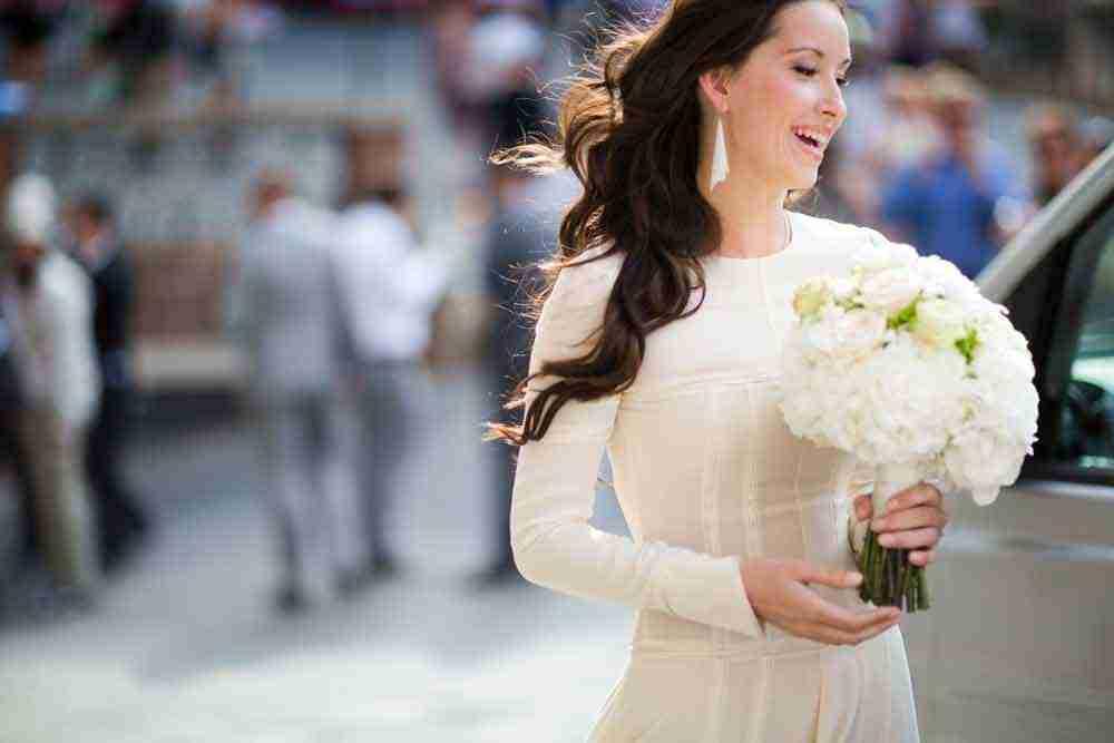 beautiful bride and white peony roses bouquet destination tuscany siena weddings