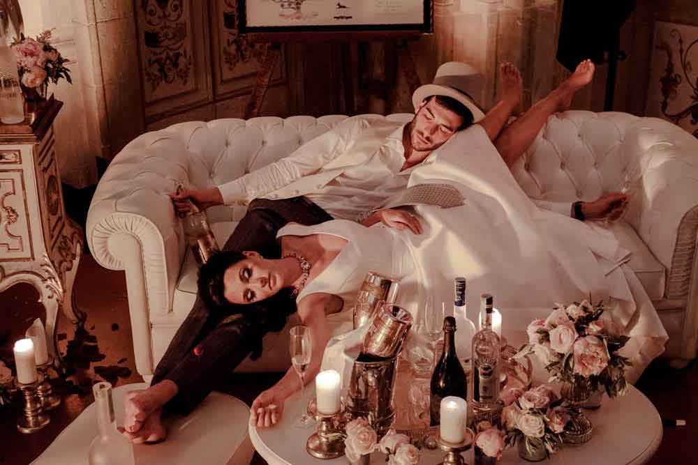 drop dead bridal night fun tuscan wedding