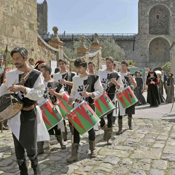 Medieval Parade in Tuscan ancient Village