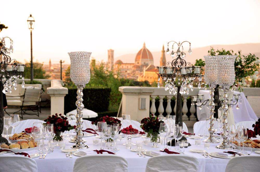 Reception with extraordinary views of Florence