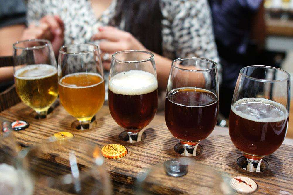 Tasting of craft beer
