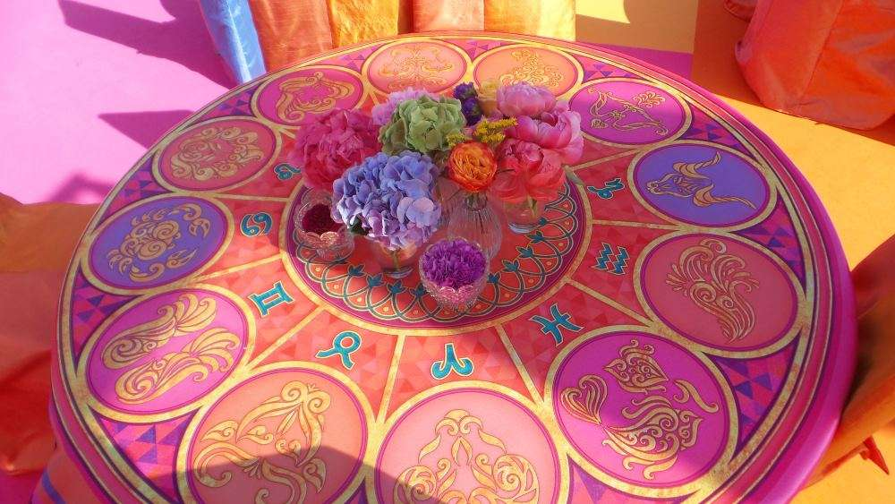 custom made table tops reception lunch capri