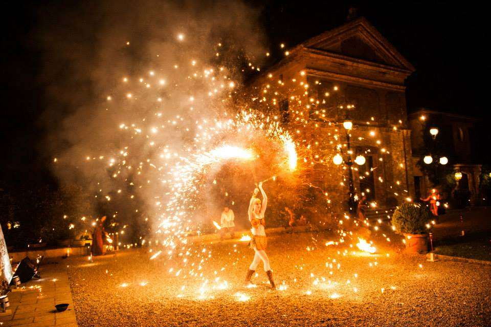 ladies and fire jugglers for events entertainment