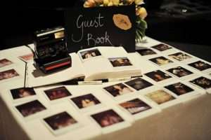 polaroid wedding guest book