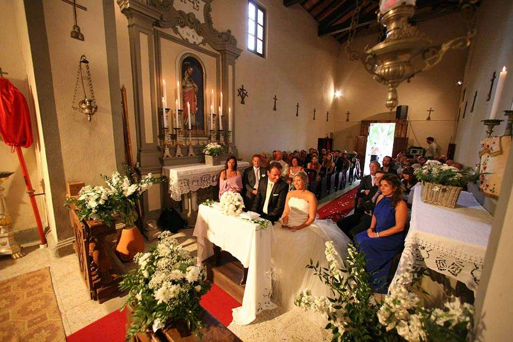 Catholic ceremony in Tuscany