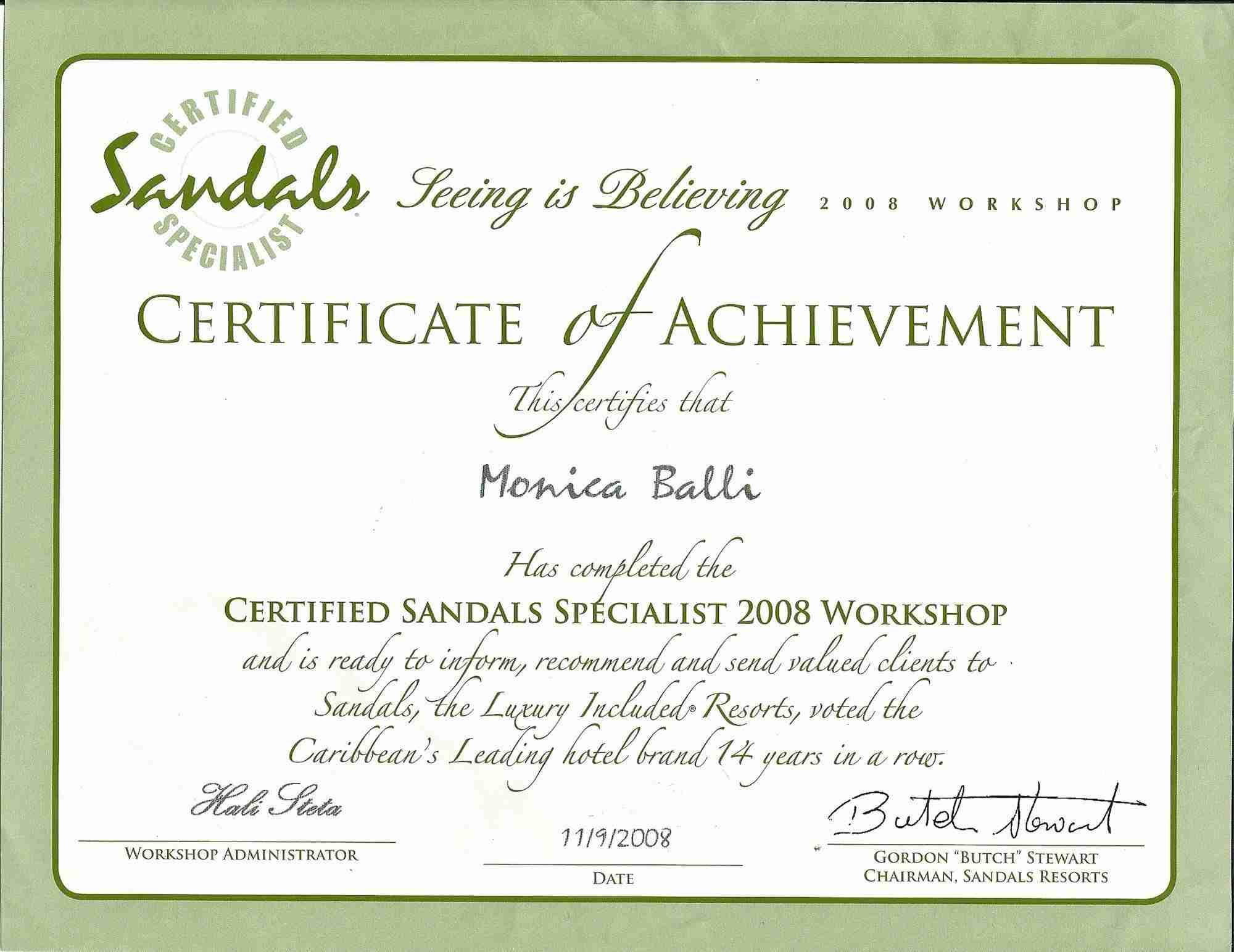 Sandals specialist monica balli