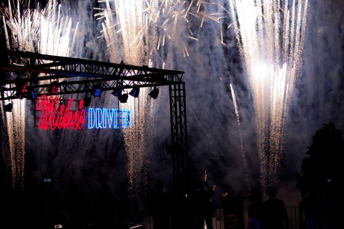 Themed event in tuscany fireworks